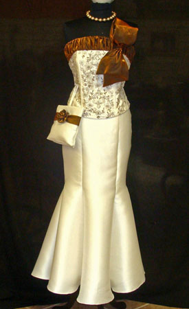 Designer Full Gown with pouch bag